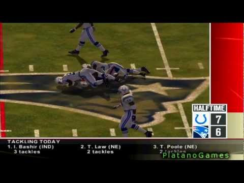 NFL 2012 Week 11 - Indianapolis Colts (6-3) vs New England Patriots (6-3) - 2nd Half - NFL 2K5 - HD