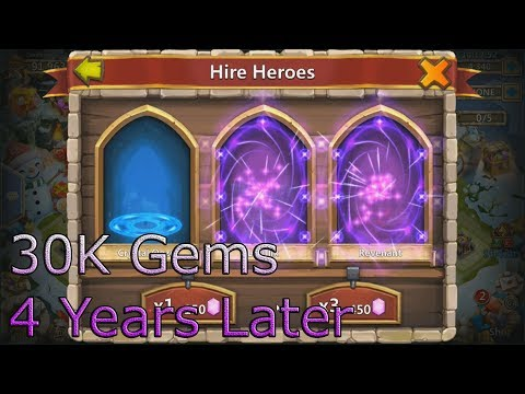 Rolling 30K Gems In Castle Clash 4 Years Later!!! (2019)