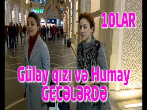 Humay ve Gulay qizi ile gece gezintisinde ATV 10LAR ONLAR