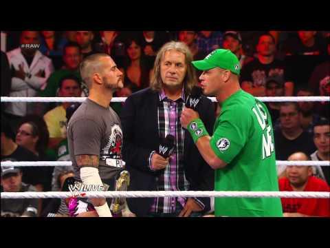 Bret Hart punches CM Punk: Raw, Sept. 10, 2012