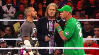 Bret Hart punches CM Punk: Raw, Sept. 10, 2012