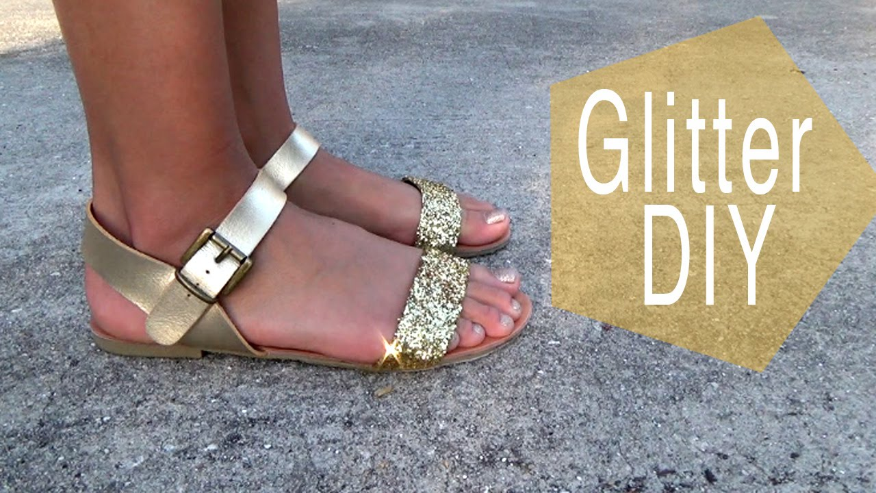 e9d99f33cfbe Glitter Shoes DIY - YouTube