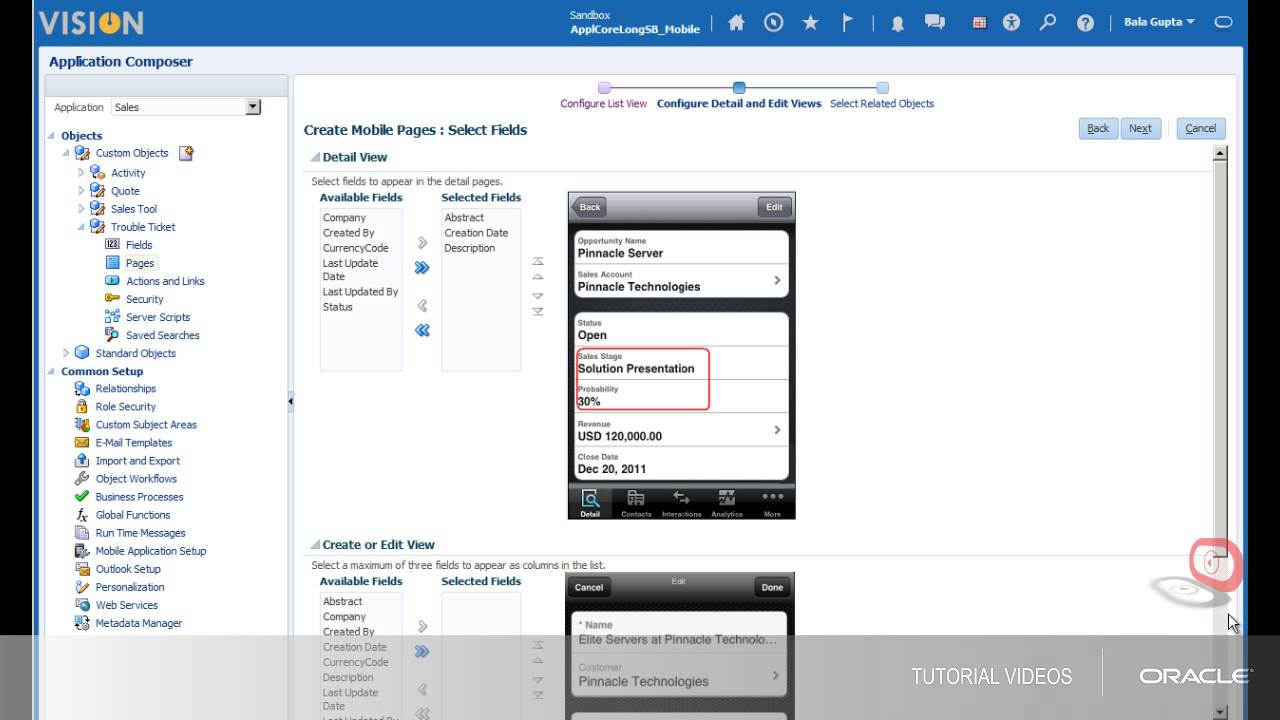 Sales Cloud Mobile   Customizing Oracle Sales Cloud Mobile - YouTube