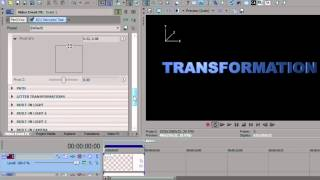 Transformations and Animations using BCC in Sony Vegas Pro 10