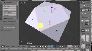 Blender: add vertices, edges and faces