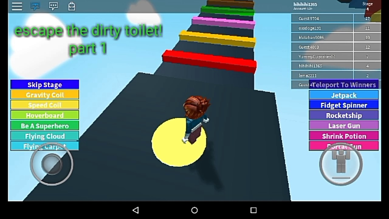 Oops Buron Roblox Escape The Dirty Toilet Roblox Obby Part 1 Youtube