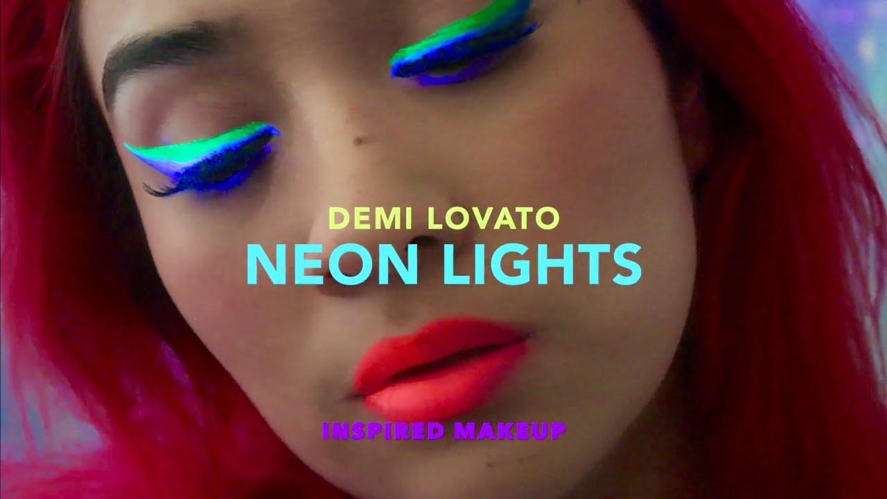 Neon Lights UV makeup Demi Lovato inspired - YouTube