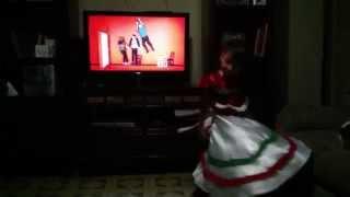 baile folklórico mexicano tradicional preescolar de Danya edlyn, jarabe tapatio