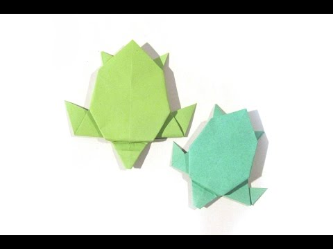 Origami Turtle (FIRST VERSION) - Tutorial - How To Make An Easy