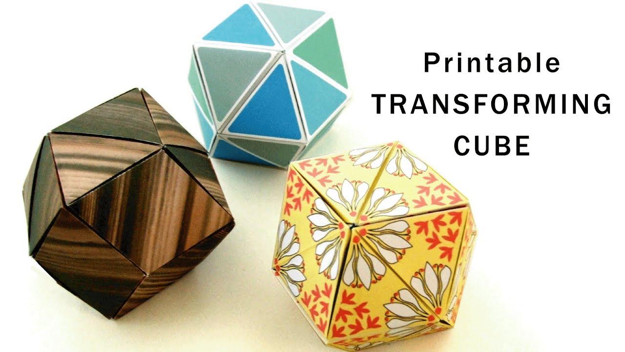u3010 u30d5 u30ea u30fc u30c7 u30b6 u30a4 u30f3 u3011 u6298 u308a u7d19 u5909 u8eab u30ad u30e5 u30fc u30d6 printable origami transforming cubes