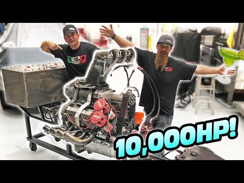 10,000 Horsepower BLENDER - Top Fuel Powered!