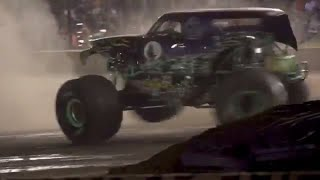 Grave Digger driver Adam Anderson unleashes wild donuts in West Lebanon!