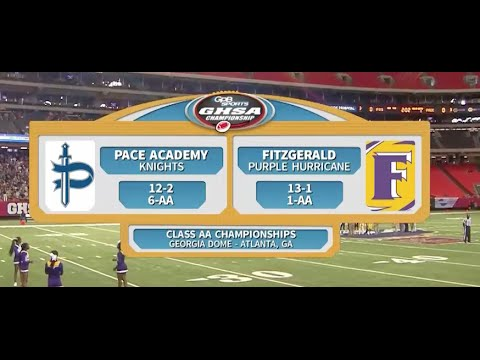 Pace Academy Vs. Fitzgerald 2015