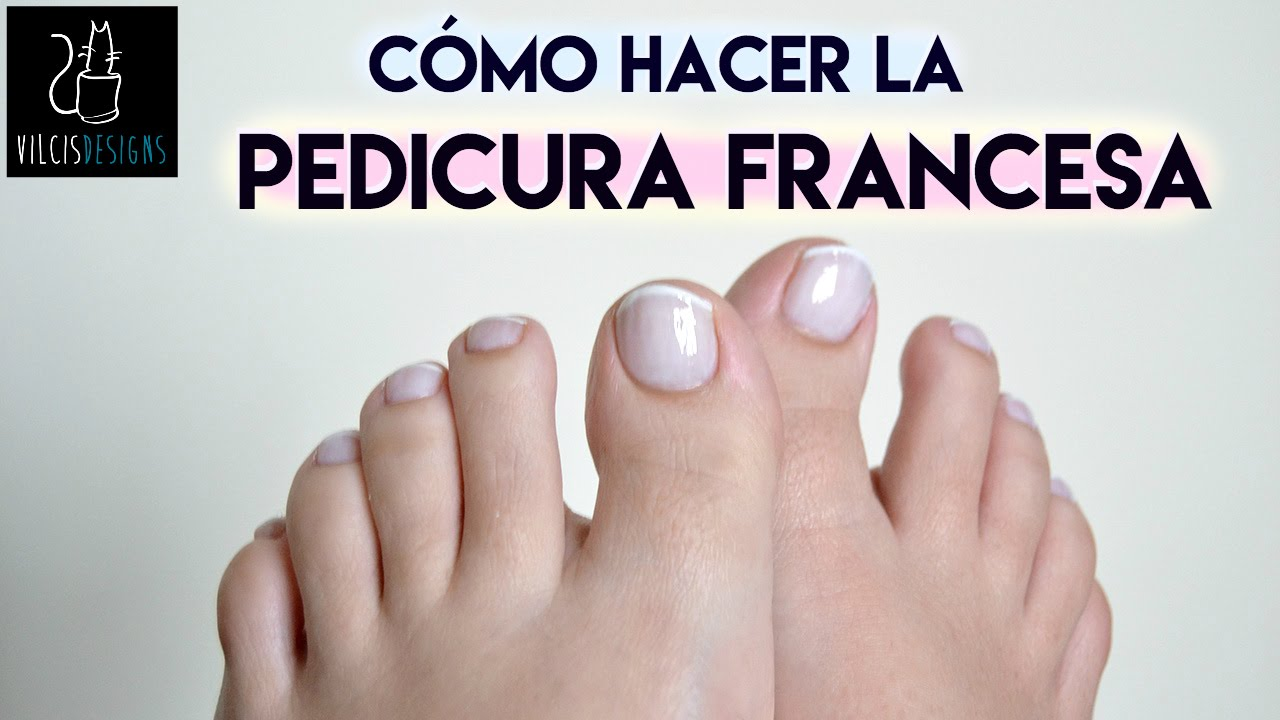 Cómo hacer la pedicura francesa / How to French pedicure - YouTube