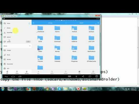 How to get app/apk files from bluestacks app player