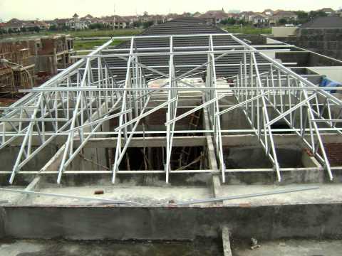 rangka atap baja ringan model limas galvalum by andre wiwanto