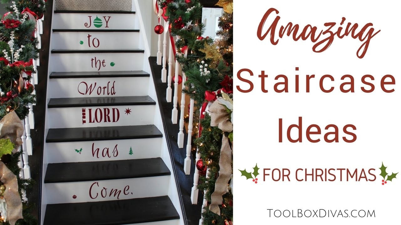 Christmas Decorations Decorate Your Staircase with Garlands and Ornaments