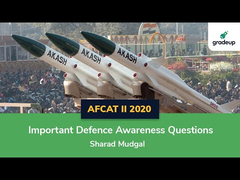 AFCAT II 2020 | Important Defence Awareness Questions | Part-2 | Defence Current Affairs 2020