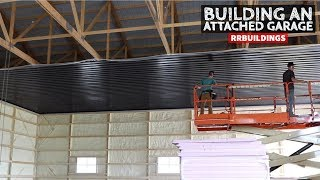 How to Build a Garage Addition 26: Black Ceiling Steel Installation