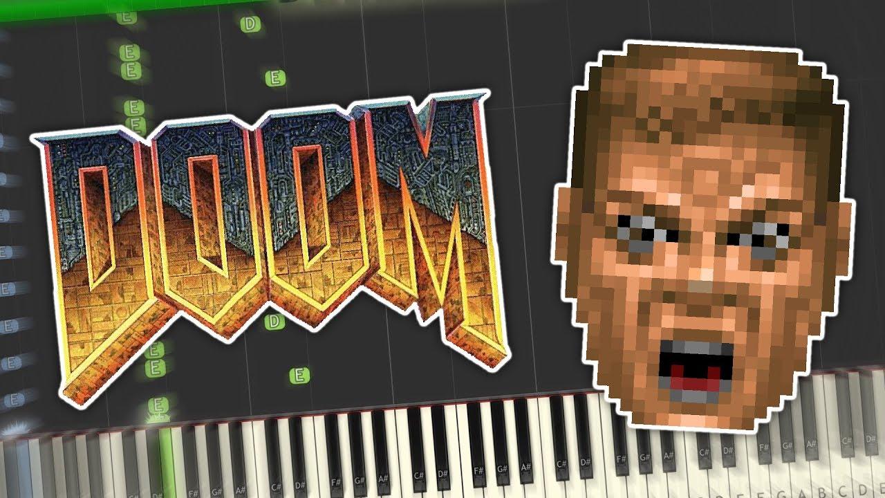Doom - At Dooms Gate/E1M1 Theme Piano Tutorial Synthesia
