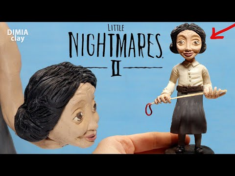 THE TEACHER from the game Little Nightmares 2 - Sculpting figures from plasticine | Dimia clay |