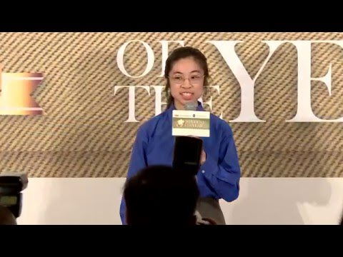 South China Morning Post 2015 Student of the Year Grand Prize winner's acceptance speech