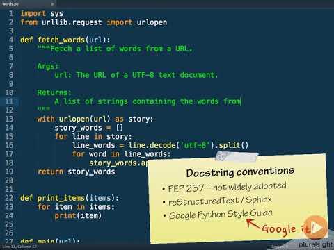 python google docstring