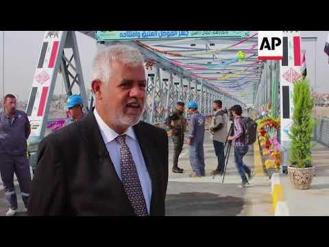 Iraqis inaugurate fully restored iconic bridge in Mosul