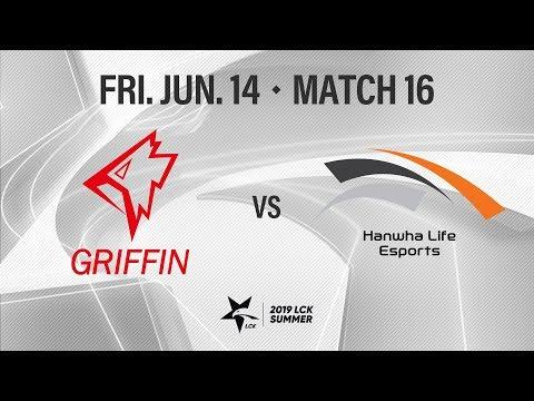 그리핀 vs 한화생명 | Match16 H/L 06.14 | 2019 LCK 서머