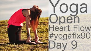 35 Minute Yoga Open Heart Flow Day 9 Yoga Fix 90 with Fightmaster Yoga