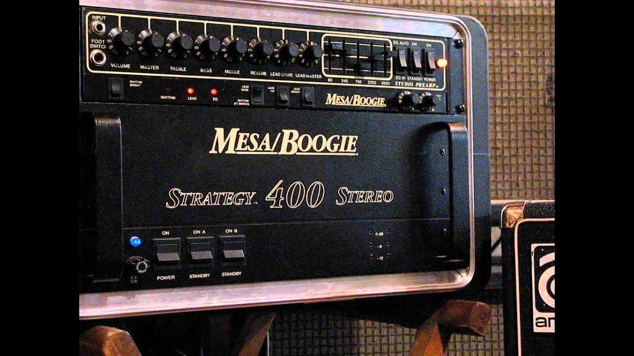 Mesa Boogie Studio Preamp Amp Strategy 400 Power Amp