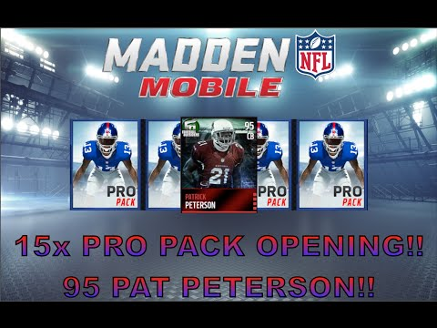 15x Pro Pack Opening! 3 ELITE PULLS! Football Outsiders 95 Patrick Peterson! - Madden Mobile 16
