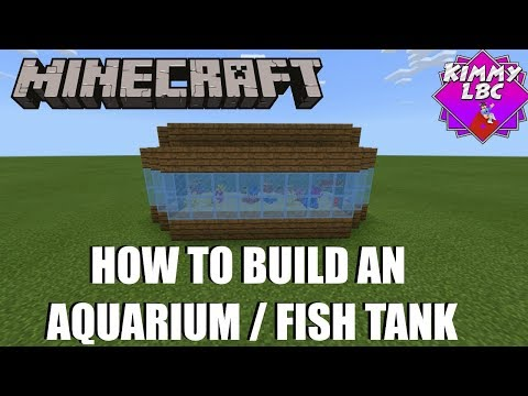 Minecraft 1.13 - How To Make An Aquarium / Fish Tank