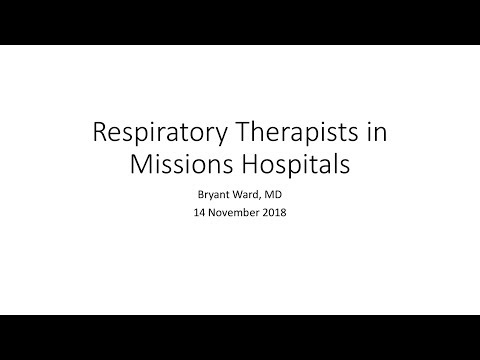 Webinar: Respiratory Therapy in Mission Hospitals