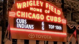 Top/Bottom 10th - 3 Flips Wrigley Field Marquee Cubs World Series Champions Wrigleyville
