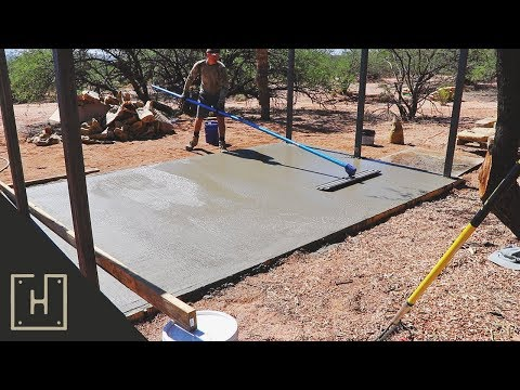 DIY Concrete Deck with Steel Pergola - Pouring The Slab (part 3)