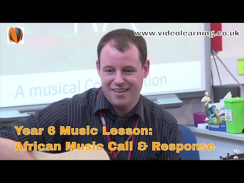 Year 6 Music Classroom Observation - Topic: African music