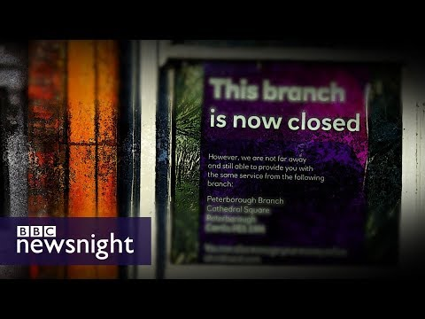 The impact of bank branch closures on local communities – BBC Newsnight