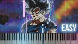 Dragon Ball Super Ultimate Battle Ultra Instinct How To Play Piano Tutorial EASY Sheets.mp3