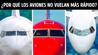 Por qué los aviones de pasajeros no vuelan más rápido