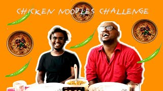 Chicken noodles eating challenge! feat. siddysid // Street food - chinese // Fast food challenge