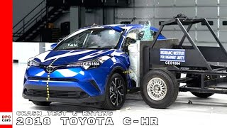 The 2018 Toyota C-HR, a new small SUV, earns good ratings in all si...