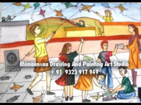 drawing class for intermediate exam art painting wmv