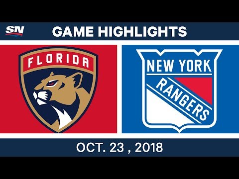 NHL Highlights | Panthers vs. Rangers - Oct. 23, 2018
