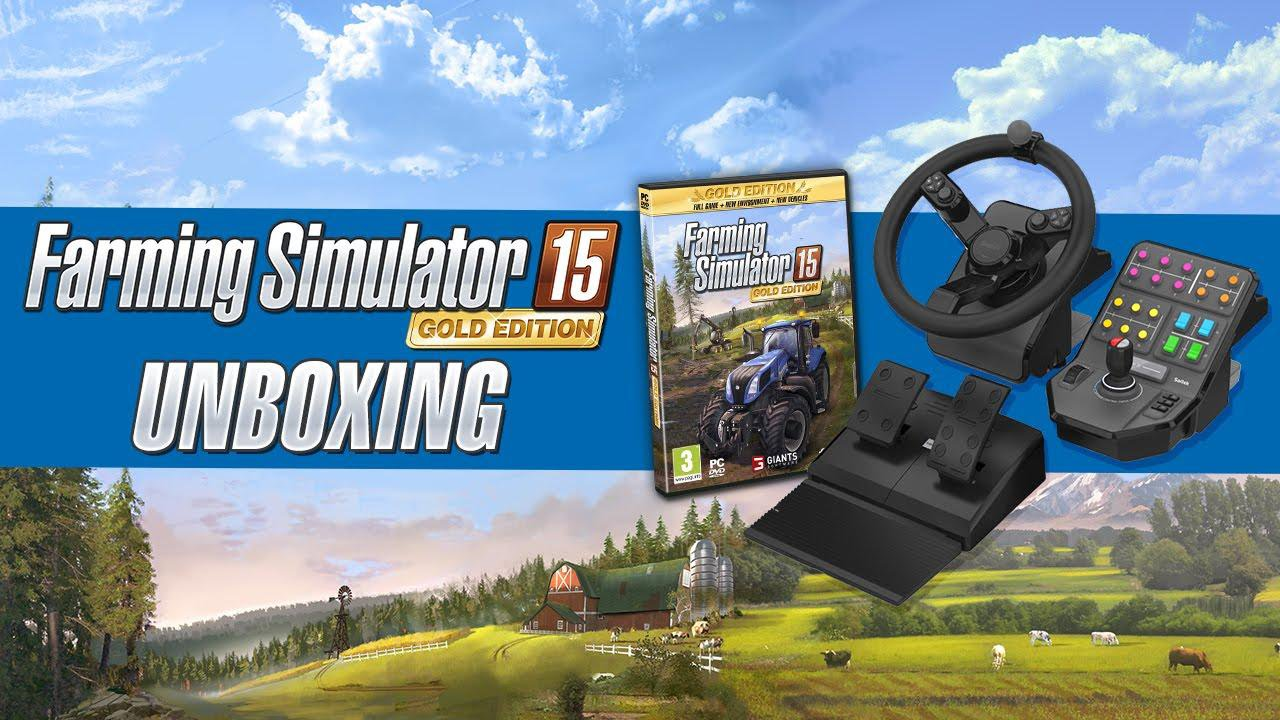 unboxing volant farming simulator 2015 pack gold edition youtube. Black Bedroom Furniture Sets. Home Design Ideas