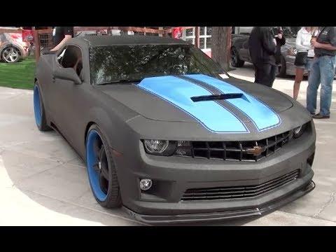 "Rhino Lined Truck >> Camaro SS ""line X coated"" : SEMA 2013 - YouTube"