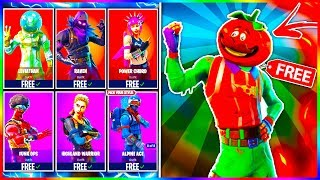 "How To Get FREE Skins in Fortnite! FREE Fortnite Outfits Including FREE ""TOMATOHEAD"" SKIN!"