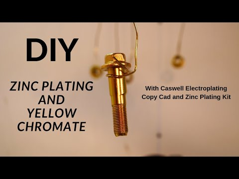 ZInc Plating Hardware with Caswell Electroplating Copy Cad Zinc Plating Kit
