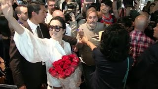 Super star Gong Li arriving at Cannes airport for the festival