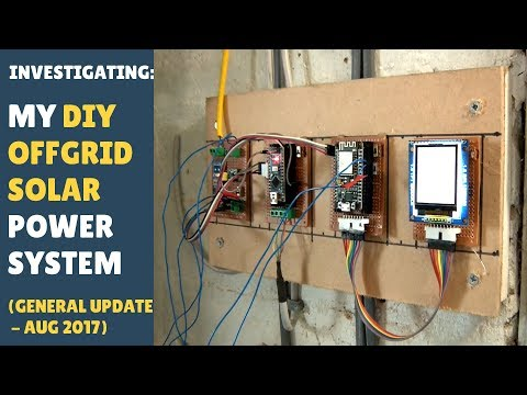 My DIY Offgrid Solar Power System (An Update - Aug 2017 - Replacing Sensors with MODBUS)